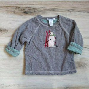 Janie and Jack Reversible Long Sleeve Shirt Top